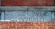 Houthulst: toegang tot de Belgische militaire begraafplaats (detail)
