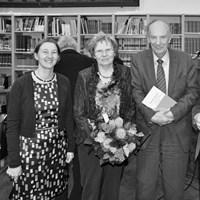 December 2012, jaarvergadering: prof. B. Meijns, mevr. Cloet, prof. em. M. Cloet, voorzitter A. Vandewalle